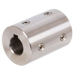 Set-screw coupling TR bore 20mm with keyway stainless steel 1.4305