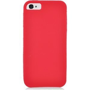 Eagle Cell SCIPHONE5S03 Barely There Slim and Soft Skin Case for iPhone 5 - Retail Packaging - Red (There 5 Barely Case Iphone)