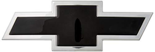 (AMI 96295KP Chevy Bowtie Grille Emblem - Polished/Black Powder coat, 1 Pack)
