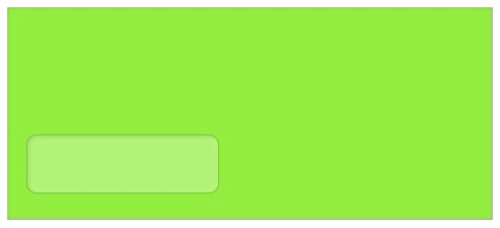 #10 Astrobright Martian Green Envelopes - Poly Window, 60T, 2500 Pack