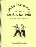 Intermediate Music for Two, Volume 2 for Flute or Oboe or Violin & Clarinet