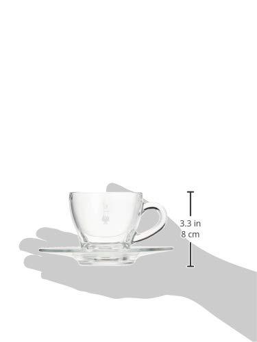 Vetro Bialetti DCRAST0007 Set 2 Tazze da Cappuccino