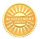 Hammond And Stephens 1.81 In. Achievement Award Gold Foil Embossed Seal44; Pack Of 54