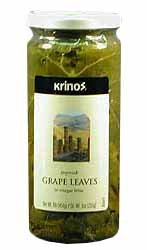 Krinos Gourmet Grape Leaves in Vinegar Brine, 16 Ounces, 454 grams by Krinos