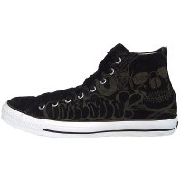 Converse All Star Daim Chucks CT 100243 Skull Graffiti Hi Noir Sneakers Taille 42 (UK 8,5)