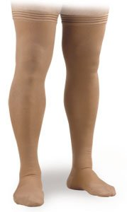 Soft Fit 20-30 mmHg Mid Thigh High with Uni-Band Top, Beige XX-Large