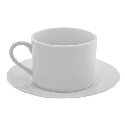 Ten Strawberry Street Z-Ware 8 oz. Teacup and Saucer (Set of 6) ZW-9