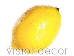 """Allstate Floral Artificial Decorative Faux Fruit for Home Decor - 2.5"""" X 3.5"""" Lemon"""