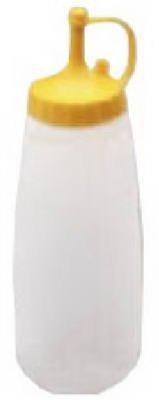 Arrow Plastic Reusable Mustard Dispenser 12 Oz White, Yellow Bulk
