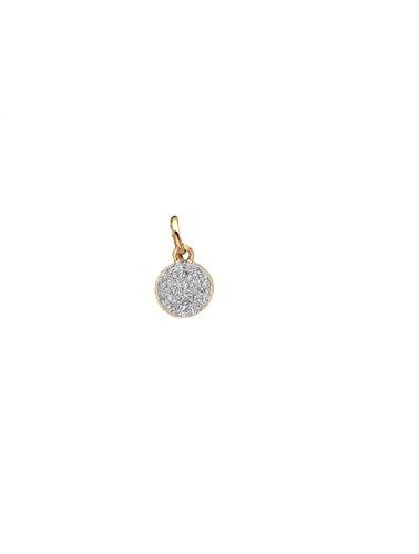 mini diamond disc charm, Zoe Lev Jewelry by Zoe Lev Jewelry