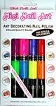 Migi Nail Art Fingernail Polish Kit - 8 Neon Colors (4 Pen-brushes)