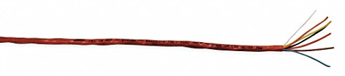 Unshielded Multi-Conductor, 500 ft. Length, Red Jacket Color, Number of Conductors: 6 by Carol