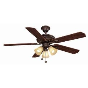 52 oil rubbed bronze ceiling fan - 1