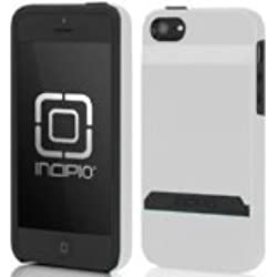 Incipio iPhone 5s Wallet Case, [STASHBACK] Credit Card Wallet Case fits iPhone 5, iPhone 5s, and iPhone SE - Retail Packaging - White/Gray