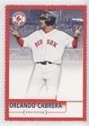 - Orlando Cabrera (Baseball Card) 2004 Upper Deck McDonald's Boston Red Sox Champions Sheets - [Base] - Singles #15