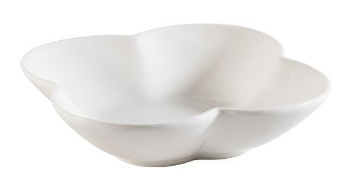 CAC China FDF-4 Accessories 4-Inch by 1-1/2-Inch New Bone White Porcelain Flower Dish, Box of 48 by CAC China