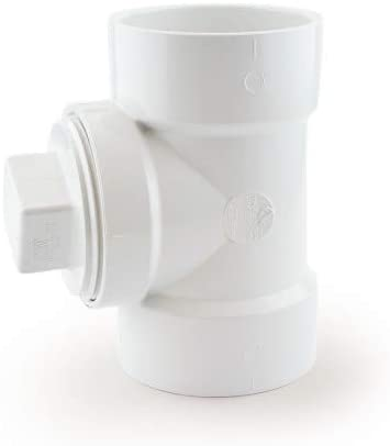 3 PVC DWV Cleanout Tee w//Plug Pack of 10