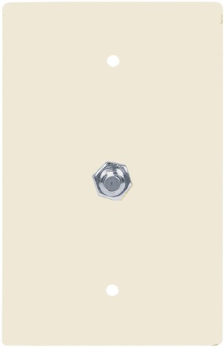 Eaton Cable (Eaton 2072LA-SP-L Flush Mount Mid Size Wall Plate with Coaxial Adapter, Light)