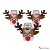Dozen Christmas Reindeer Cover Coolers