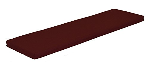 A & L Furniture Sundown Agora 5′ Cushion for Bench Or Porch Swing, 55″ L 17″ W 2″ T, Burgundy For Sale