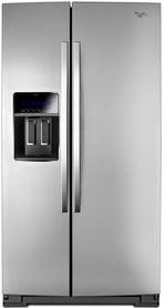 (Whirlpool® 36-inch Wide Side-by-Side Counter Depth Refrigerator with StoreRight™ Dual Cooling System - 20 cu. ft.)