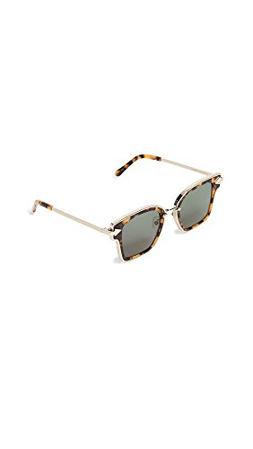 Karen Walker Women's Rebellion Sunglasses, Crazy Tort/Green Mono, One - Crazy Walker Tort Karen