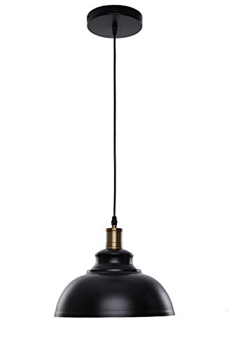 Pendant Lighting, Lika Industrial Vintage Black Hanging Ceiling Lamp with Metal Shade,Lighting Fixtures for Kitchen Island, Dining Room, Barn (One Pack)