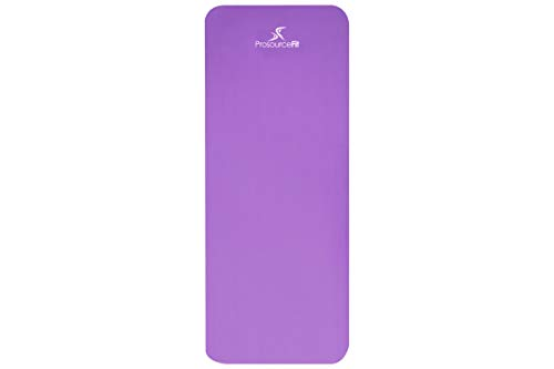 "Prosource Fit Yoga Mat ½"" 71-inch High with Comfort Carrying"