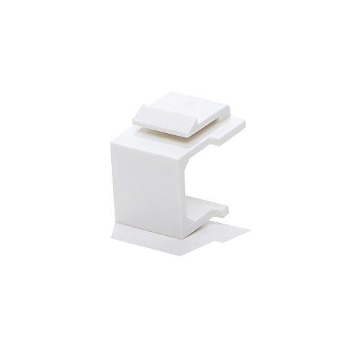 25PCS SNAP-IN BLANK INSERT ABS WHITE KEYSTONE FOR WALL PLATE (Blank White Insert Keystone)