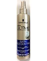 Schwarzkopf Styliste Ultime Satin Frizz Control Heat Protection Straightening Spray, 6.8 Ounce by Schwarzkopf