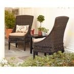 Woodbury Patio Dining Chair with Textured Sand Cushion (2-Pack)
