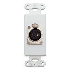 QualConnectTM Decora Wall Plate Insert, White, XLR Female to Solder Type (Xlr Female Wall Plate)