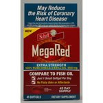 Schiff Schiff MegaRed Extra Strength 100% Pure Omega-3 Krill Oil, 500mg, Softgels 45 ct (Quantity of 1)