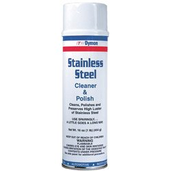 Dymon 20920 Stainless Steel Cleaner, 16oz, Aerosol (Case of 12)