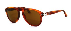 Persol PO0649 96/33 Tortoise / Orange PO0649 Aviator Sunglasses Lens Category - Persols Women For