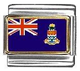 (Cayman Islands Flag Italian Charm Bracelet Link)