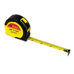 Great Neck ExtraMark Power Tape, 5/8'' x 12ft, Steel, Yellow/Black (48 Units)