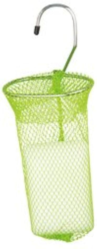 ドック弱い振動する石けんネット リングタイプ 10枚組 グリーン