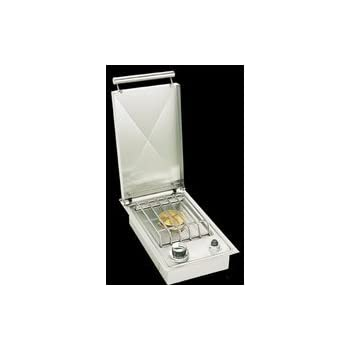 Single Countertop Island Side Burner in Stainless Steel Gas Type: Natural Gas