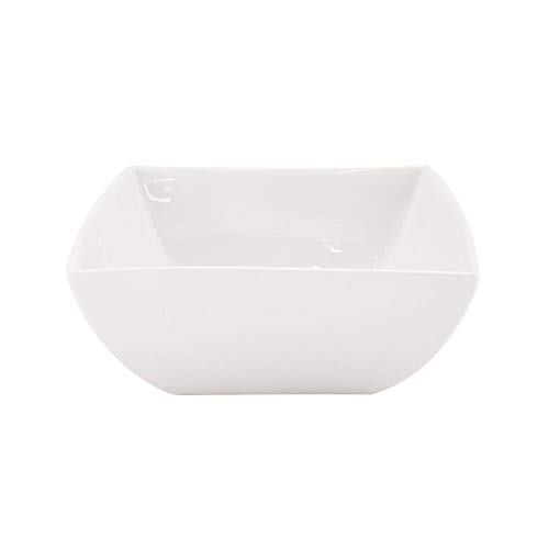 Maxwell and Williams Basics East Meets West Square Soup Bowl, 7-Inch, White