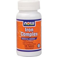 Cheap 2 Bottles of NOW Foods IRON COMPLEX 100 Tabs