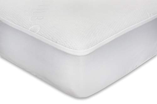 Waterproof Fitted Crib Mattress Protector - Washable Natural Bamboo Jacquard Crib Mattress Pad - Noiseless, Breathable & Hypoallergenic Crib Mattress Cover for Potty Training Toddlers & Infant Cribs