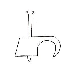 IKu /® Nagelschelle Kabelschelle 14-17 mit Nagel 35 mm 100 St/ück