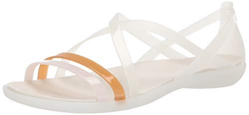 oyster Strappy Naranja Punta 159 Con Isabella Mujer Para Abierta Sandal Sandalias Crocs W Pvfwq1x5