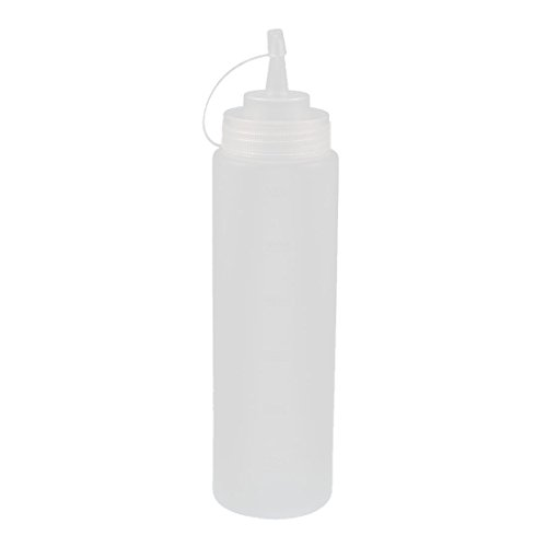 UXcell 600ml 24oz Kitchen Clear Plastic Squeeze Bottles C...