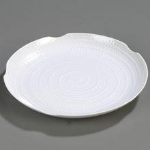 White Terra Displayware Melamine Round Textured Platter -- 12 per (Designer Displayware Round Platter)