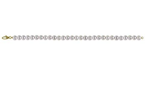 mayumi-bracciale perles pleine perlagione 6x 6œ mm or jaune 750°/° °