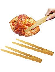 Extra Long 18.7'' Locking Barbeque Tongs, Non-Stick Food Tongs for All Outdoor and Kitchen Cooking Needs, 100% Stainless Steel with Bamboo Handle