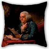 Alphadecor The Oil Painting David Martin - Benjamin Franklin Mollify Covers Of ,18 X 18 Inches / 45 By 45 Cm Decoration,gift For Bench,dining Room,teens Girls,saloon,him,kids (bent over Sides)