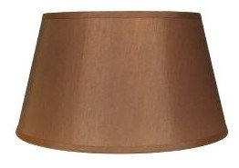 - Upgradelights 16 Inch Tapered Drum Table Lampshade 13x16x10.5 (Bronze Silk)